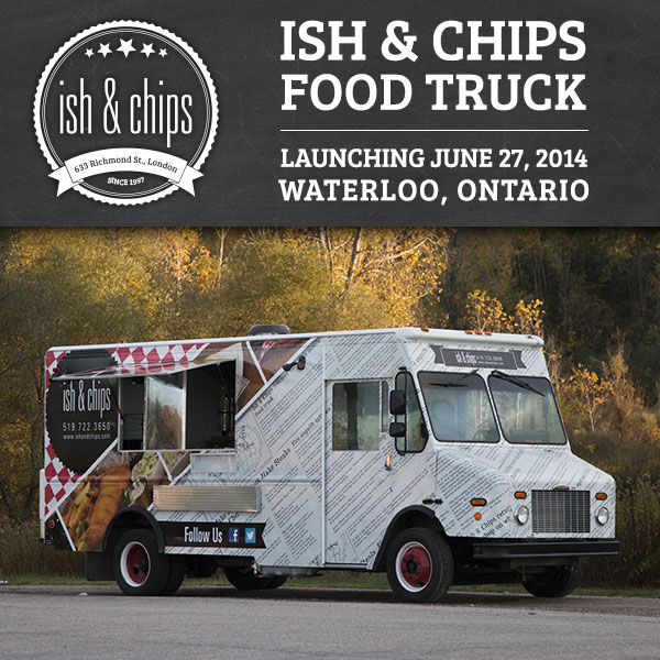 Ish chips ish food truck comes to waterloo ish chips for Kitchen 88 food truck utah menu